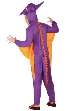 Disfraz de Pterodáctilo morado para hombres