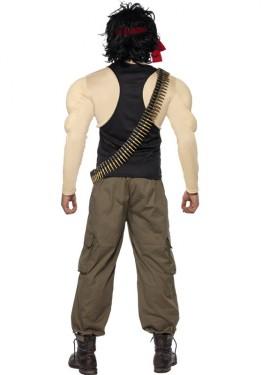 Déguisement de Rambo Musclé pour homme taille M