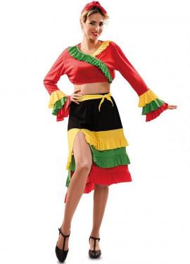 Déguisement de Danseuse de Rumba Rouge pour femme