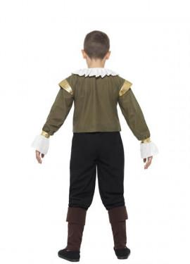 Disfraz de Shakespeare para niño