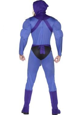 Disfraz de Skeletor musculoso para hombre