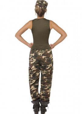Disfraz de Soldado de Camuflaje para Mujer