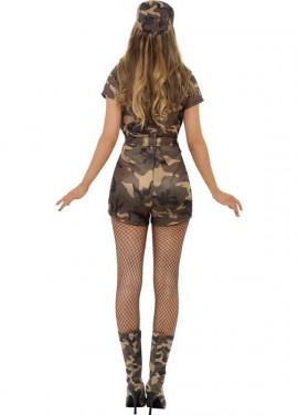 Disfraz de Soldado de Camuflaje Sexy para Mujer