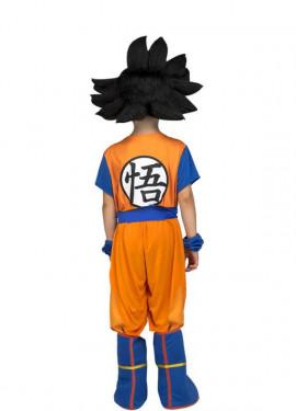 Disfraz de Son Goku de Dragon Ball con peluca para niño