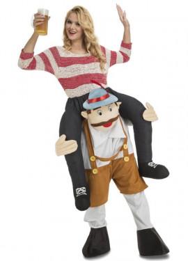 Disfraz de Tirolés Oktoberfest a hombros para adultos