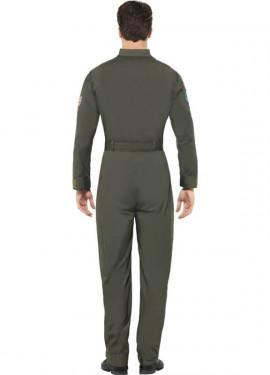 Disfraz de Top Gun Verde para hombre