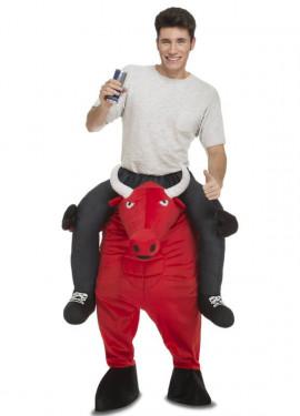 Disfraz de Toro Rojo a hombros para adultos