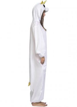 Disfraz de Unicornio blanco con Ojos grandes para adultos
