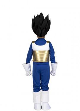 Disfraz de Vegeta de Dragon Ball con peluca para niño
