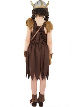 Disfraz de Vikinga o Bárbara para Niña