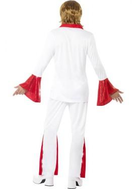 Déguisement Disco Années 70 Blanc - Rouge pour homme plusieurs tailles