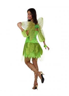 Déguisement Fée de l'Automne Vert pour Femme plusieurs tailles