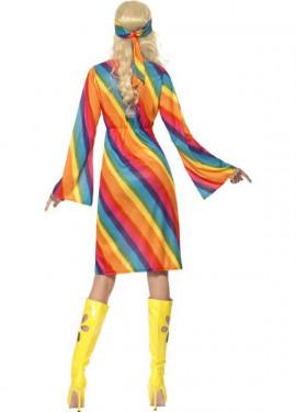 Disfraz Hippy Arcoiris para Mujer