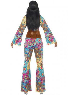 Disfraz Hippy Flower Power para Mujer