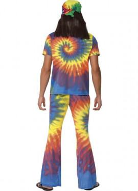 Déguisement Hippie Multicolore Bariolée pour homme plusieurs tailles