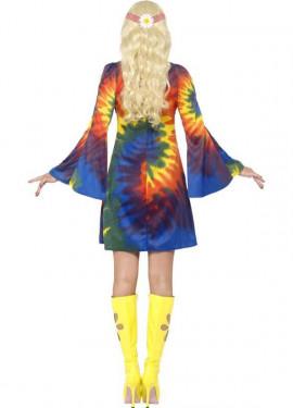 Déguisement Hippie Multicolore Bariolée pour Femme plusieurs tailles