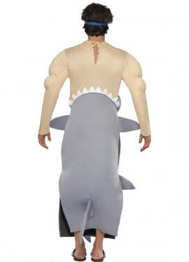 Disfraz Hombre devorado por Tiburón para Hombre