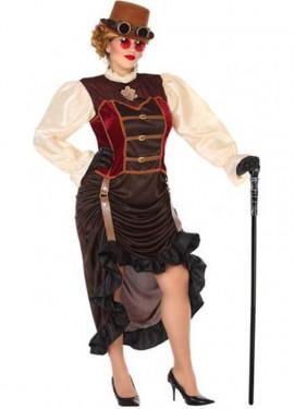 Disfraz Marrón Steampunk para mujer