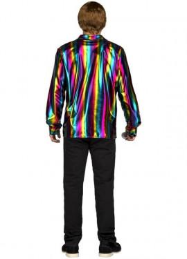 Déguisement ou Chemise Disco Multicouleur pour homme
