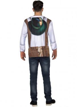 Camiseta disfraz de Bávaro blanco para hombre