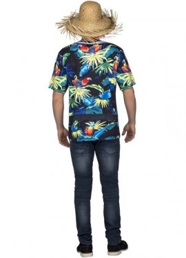 Camiseta disfraz de Hawaiano para hombre