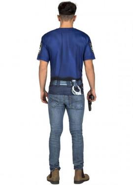 Déguisement ou T-Shirt de Police Musclé pour homme