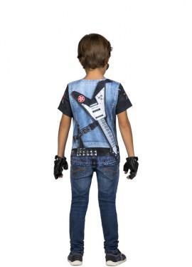 T-Shirt ou Déguisement de Rockeur Squelette pour garçon