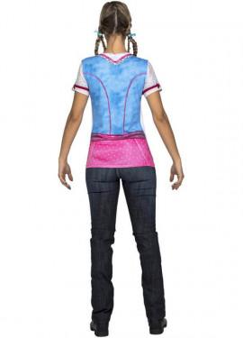 Disfraz o Camiseta de Tirolesa azul y rosa para mujer