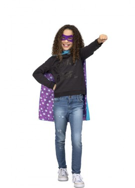 Disfraz o Capa de Súper Héroe Azul para niños