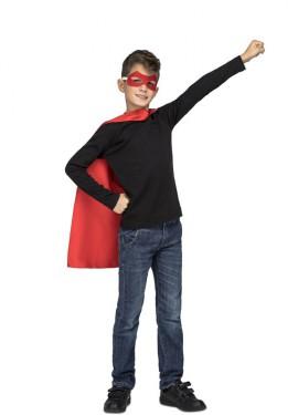 Disfraz o Capa de Súper Héroe Rojo para niños