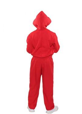 Disfraz o Mono rojo de Ladrón de Bancos para niños