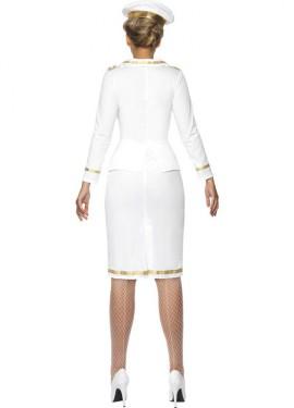 Disfraz Suboficial de Marina color Blanco para Mujer
