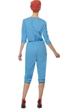 Disfraz Trabajadora de Fábrica Años 40 para Mujer