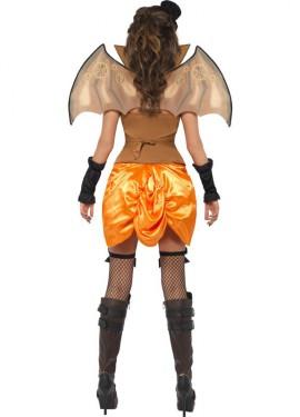 Disfraz Vampira Steampunk Murciélago para Mujer talla M