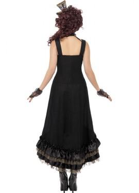 Déguisement de Vampire Steampunk Noire pour femme taille M