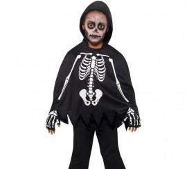 Kitde Esqueleto: Capa con Capucha y Guantes