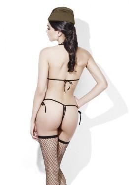Lencería Sexy de Camuflaje Trikini para mujer