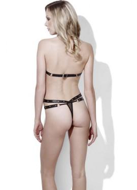 Lencería Sexy de Efecto Mojado Trikini para mujer