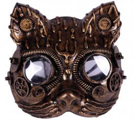 Máscara de Gata Steampunk