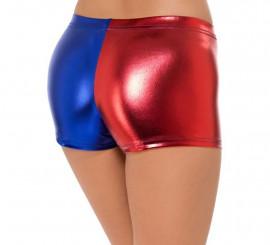 Short Clown Rouge et Bleu pour femme