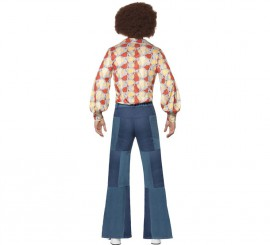 Pantalones de Campana con Parches para hombre