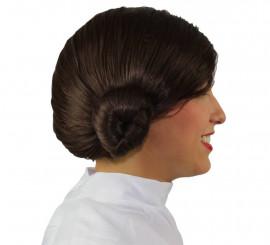 Peluca de Princesa Leia con Moños