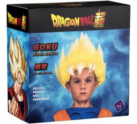 Peluca de Saiyan Son Goku de Dragón Ball en caja para niño