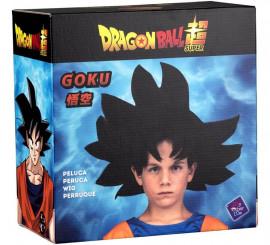 Peluca de Son Goku de Dragón Ball en caja para niño