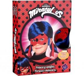Peluca y Antifaz de Ladybug en caja para niña