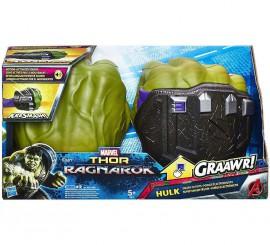 Puños Verdes de Hulk con sonido para niño.