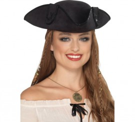 Chapeau de Capitain Pirate Noir