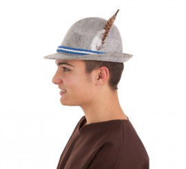 Sombrero de Tirolés gris para hombre