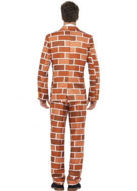 Traje Divertido Muro de Ladrillos para hombre