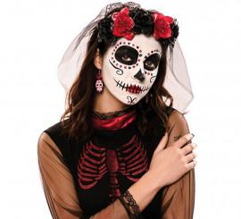 Velo con Calavera del Día de los Muertos